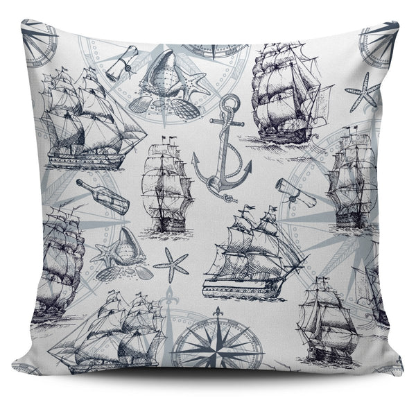 Ships Pillow Cover - Nvr2Lte2Shop.com