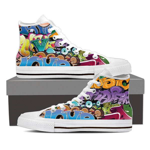 Grafitti High Top Canvas Shoes - Nvr2Lte2Shop.com