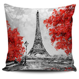 Paris In Red Pillow Cover - Nvr2Lte2Shop.com