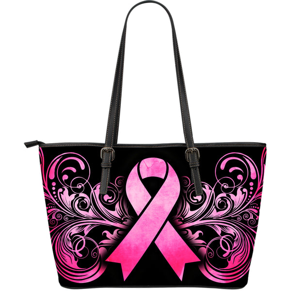 Breast Cancer Awareness Large Leather Tote - Nvr2Lte2Shop.com
