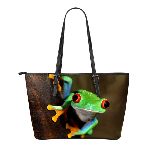 Tree Frog Small Leather Tote - Nvr2Lte2Shop.com