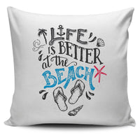 Life Is Bette Beach Pillow Cover - Nvr2Lte2Shop.com