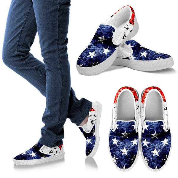 Patriotic Slip On Shoes - Nvr2Lte2Shop.com