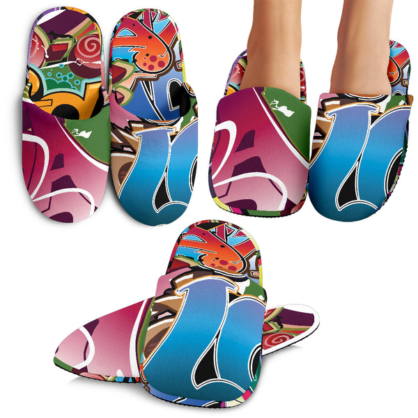 Grafitti Slippers - Nvr2Lte2Shop.com