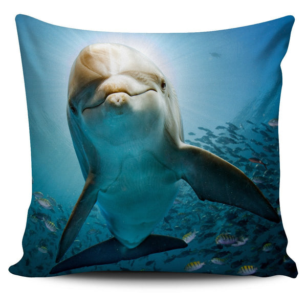 Dolphin Pillow Cover - Nvr2Lte2Shop.com