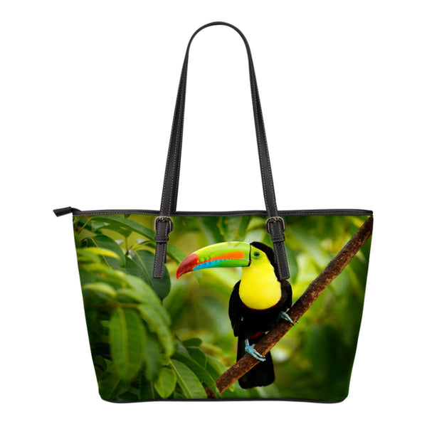Toucan Small Leather Tote - Nvr2Lte2Shop.com