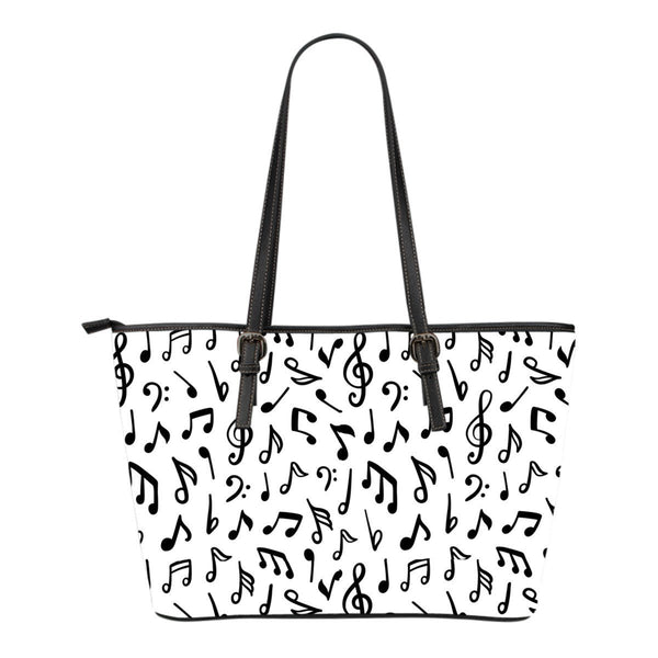 Music Notes Small Leather Tote - Nvr2Lte2Shop.com