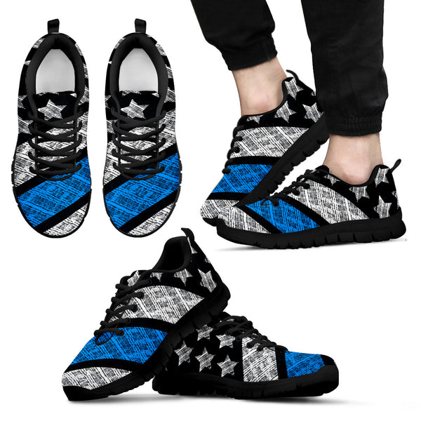 Thin Blue Line Men's Sneakers - Nvr2Lte2Shop.com