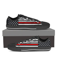Firefighter Thin Red Line Low Top Canvas Shoes - Nvr2Lte2Shop.com
