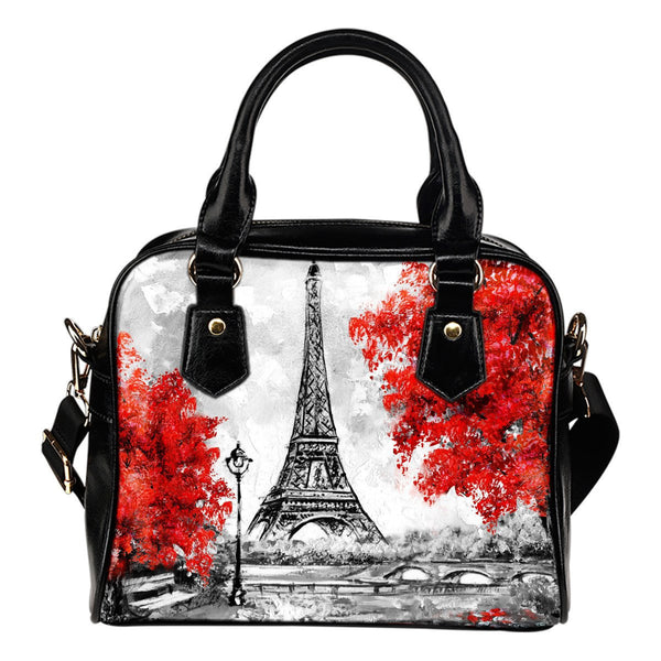 Paris In Red Shoulder Handbag - Nvr2Lte2Shop.com