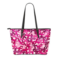 Breast Cancer Awareness Small Leather Tote - Nvr2Lte2Shop.com
