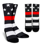 Firefighter Thin Red Line Socks - Nvr2Lte2Shop.com