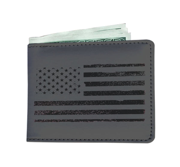USA Black Flag Wallet