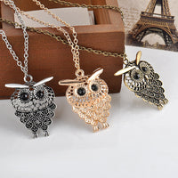 Women Vintage Owl Pendant Necklace - Nvr2Lte2Shop.com