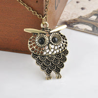 Women Vintage Owl Pendant Necklace PROMO - Nvr2Lte2Shop.com