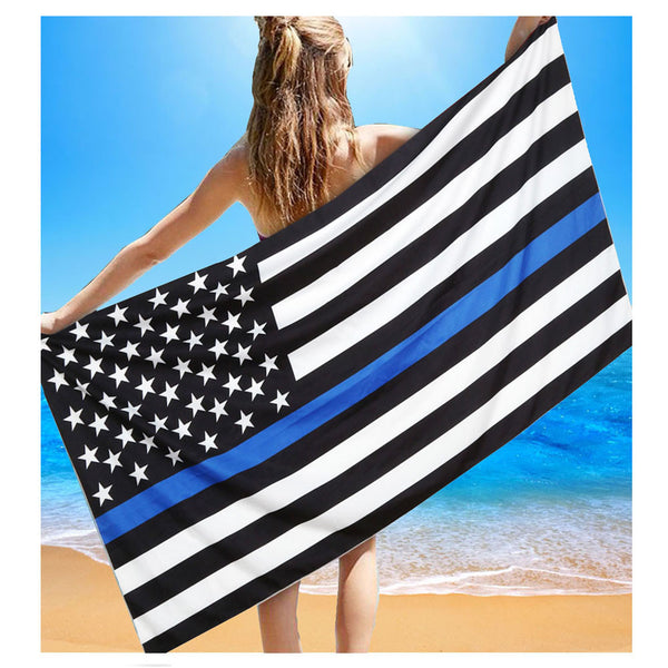 2018 Thin Blue Line Beach Towel / Cover Up - Nvr2Lte2Shop.com