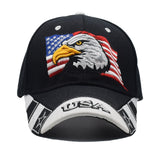 2018 USA Flag Eagle Embroidery Baseball Cap - Nvr2Lte2Shop.com