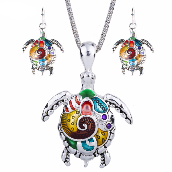 Unique Sea Turtle Fashion Design Jewelry Set - Nvr2Lte2Shop.com