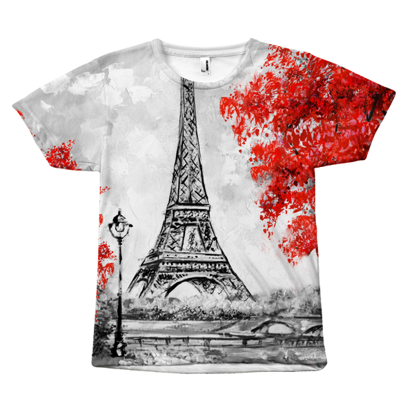 Paris in Red Overall T-Shirt - Nvr2Lte2Shop.com