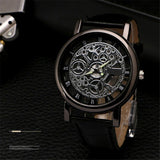 Luxury Hollow Mechanical Leather Watch - Nvr2Lte2Shop.com
