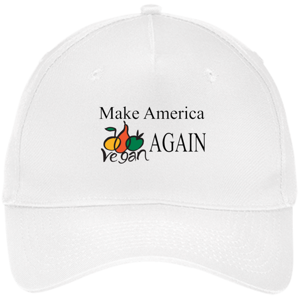 Make America Vegan Again Five Panel Twill Cap - Nvr2Lte2Shop.com
