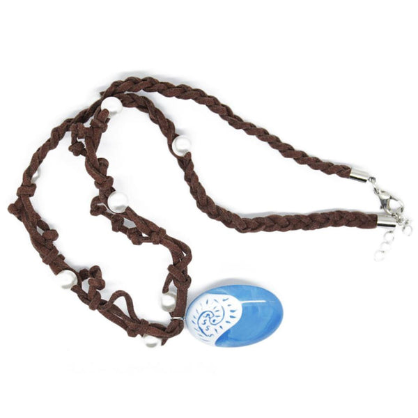 Ocean Blue Stone Rope Chain Necklace - Nvr2Lte2Shop.com