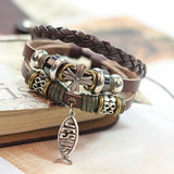 New Design Leather Christian Jesus Bracelet - Nvr2Lte2Shop.com