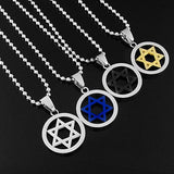 New Fashion Unisex Jewish Star Necklace - Nvr2Lte2Shop.com