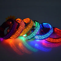 Leopard Night Safety LED Dog Collar PROMO - Nvr2Lte2Shop.com