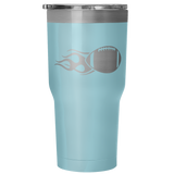 Football 30 Ounce Vacuum Tumbler - Nvr2Lte2Shop.com