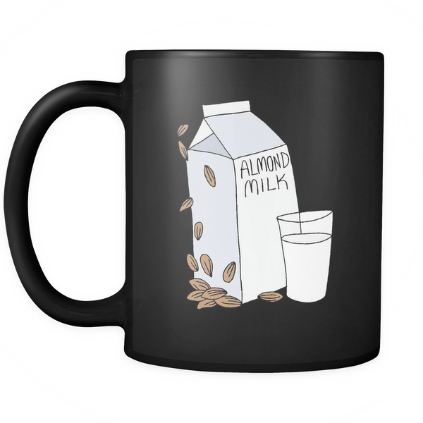 Almond Milk 11oz Mug Black - Nvr2Lte2Shop.com