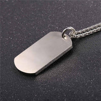 Dog Tag Cross Pendant Necklace - Nvr2Lte2Shop.com