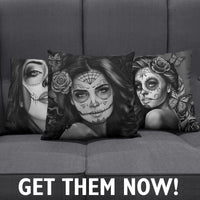 Calavera Señorita Pillow Covers - Nvr2Lte2Shop.com