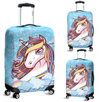 Unicorn Blue Luggage Covers - Nvr2Lte2Shop.com