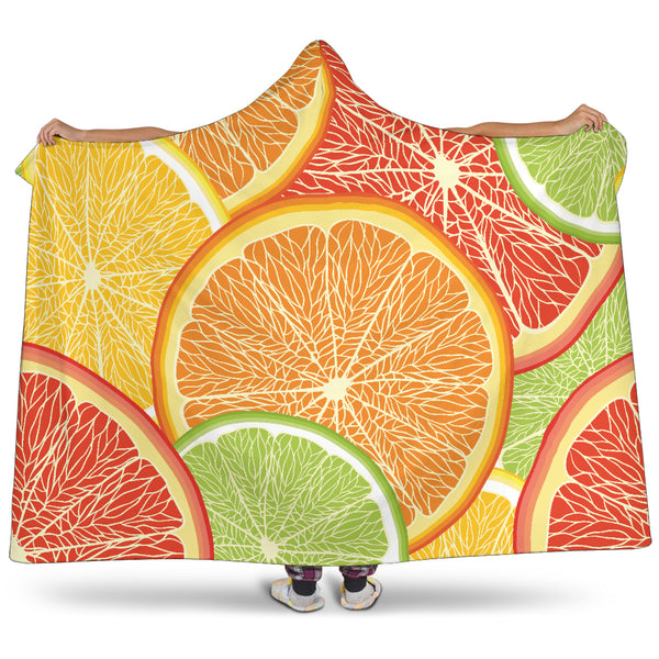 Citrus Slice Hooded Blanket - Nvr2Lte2Shop.com