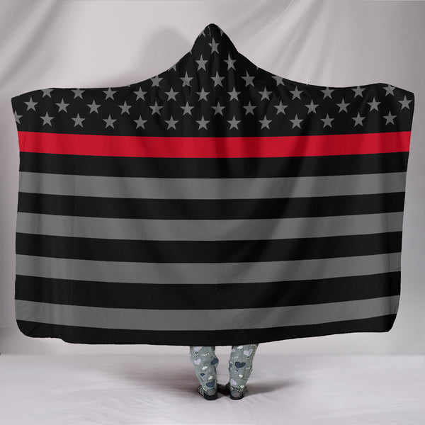 Thin Red Line Hooded Blanket - Nvr2Lte2Shop.com