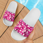 Breast Cancer Awareness Slide Sandals - Nvr2Lte2Shop.com