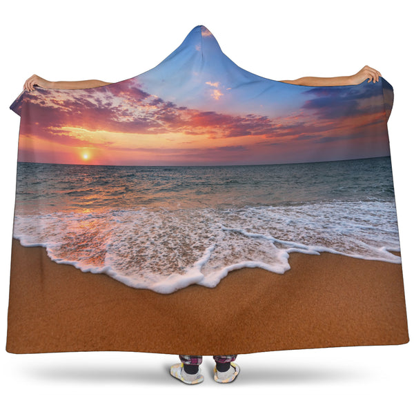 Beach Sunset Hooded Blanket - Nvr2Lte2Shop.com