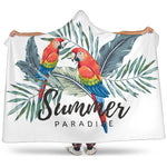 Parrots Hooded Blanket