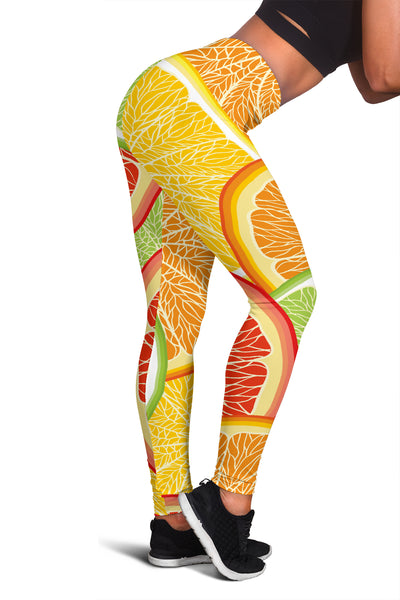 Citrus Slice Leggings - Nvr2Lte2Shop.com