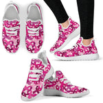 Breast Cancer Awareness Mesh Knit Sneakers - Nvr2Lte2Shop.com