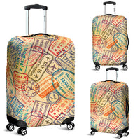 Travel Stamps Luggage Covers - Nvr2Lte2Shop.com