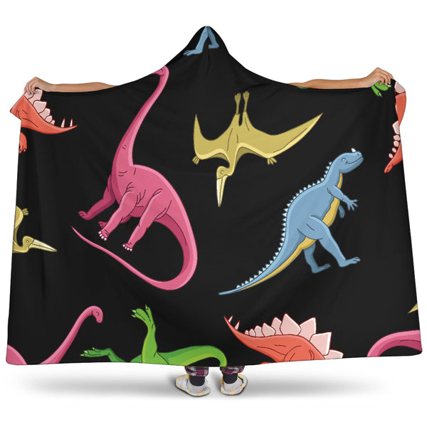 Dinosaurs Hooded Blanket - Nvr2Lte2Shop.com