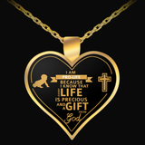 Pro-Life Gold Heart Necklace - Nvr2Lte2Shop.com