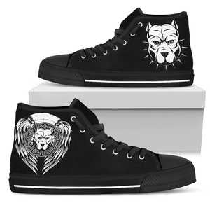 Pit Bull Wings High Top Canvas Shoes - Men - Nvr2Lte2Shop.com