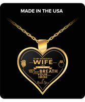 To My Wife Gold Heart Necklace - Nvr2Lte2Shop.com