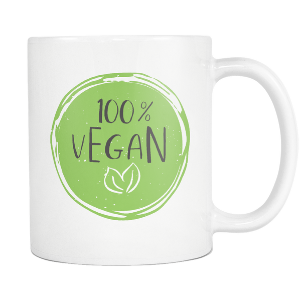 100% Vegan 11oz Mug - Nvr2Lte2Shop.com
