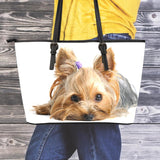 Yorkie Small Leather Tote - Nvr2Lte2Shop.com