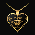 Valentines Gold Heart Necklace - Nvr2Lte2Shop.com