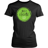 100% Vegan Women's T-Shirt - Nvr2Lte2Shop.com